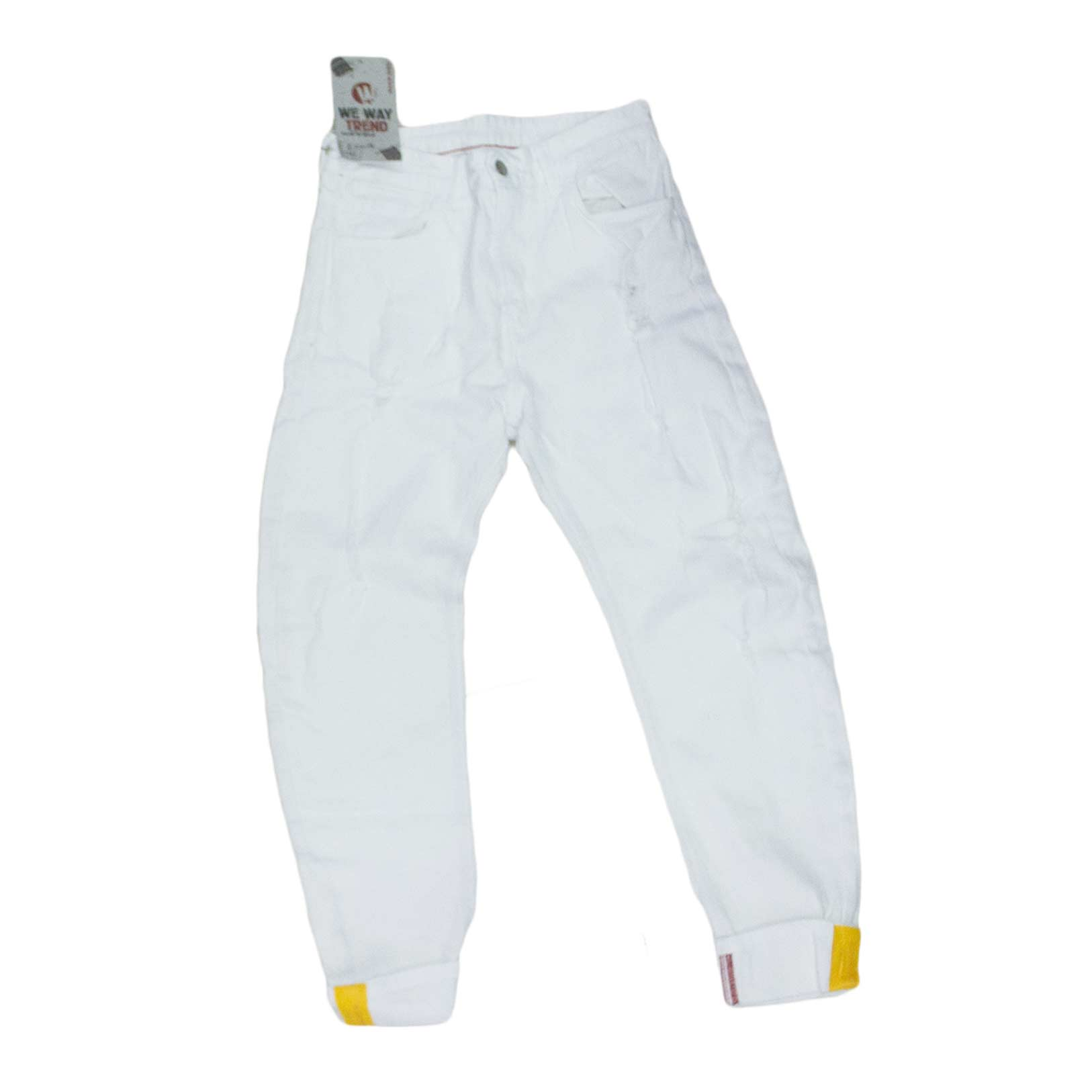 pantaloni uomo bianco white we way trend made in italy moda.