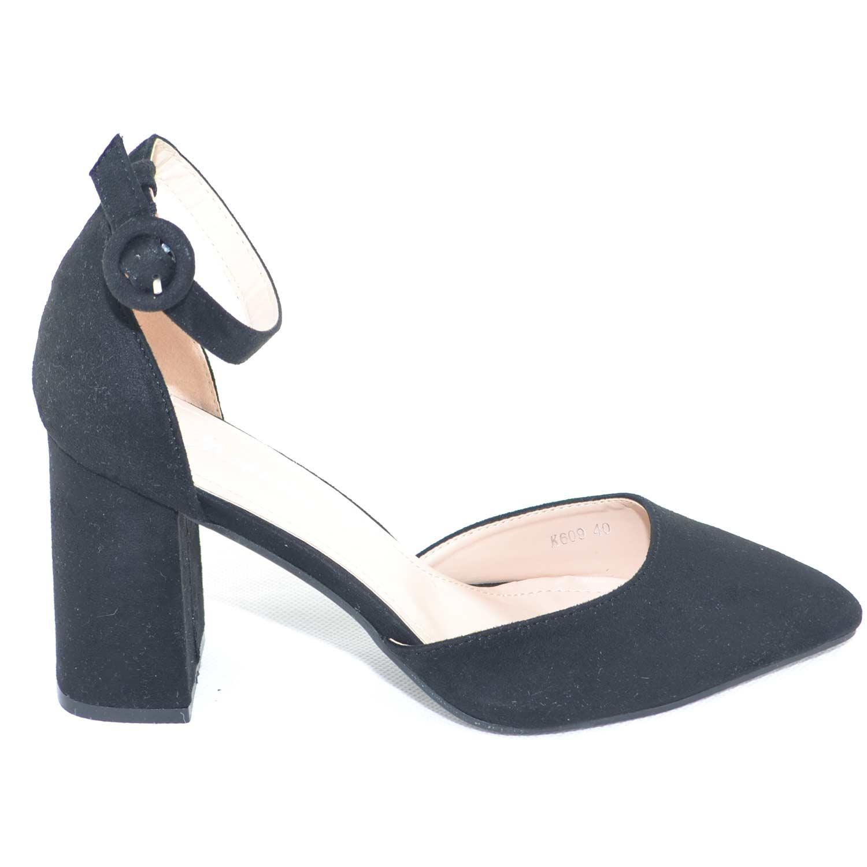 Sandalo-tacco-alto-aperto-a-punta-in-camoscio-nero-con-tacco-e-cinturino-alla-ca