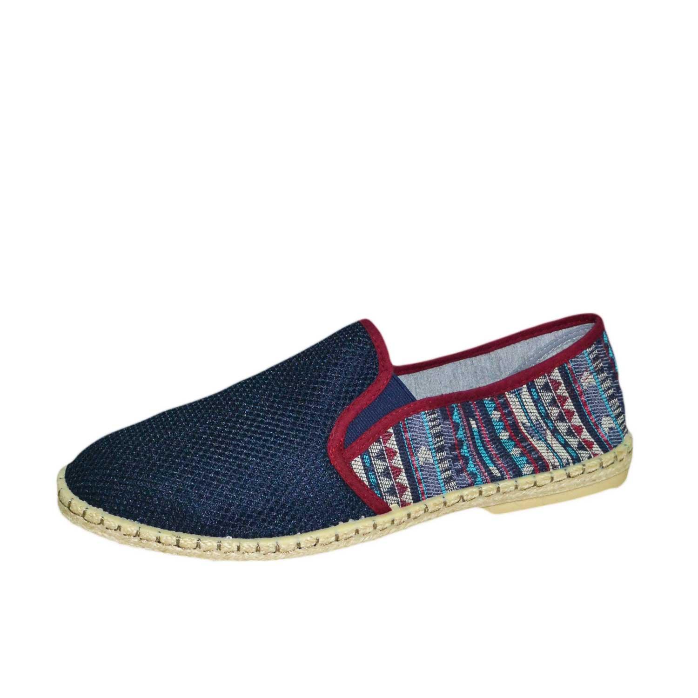 sports shoes 84d05 085d2 Espadrillas blu fantasia scarpe uomo scarpe tela corda sandali ciabatte da  mare uomo espadrillas Malu Shoes | MaluShoes