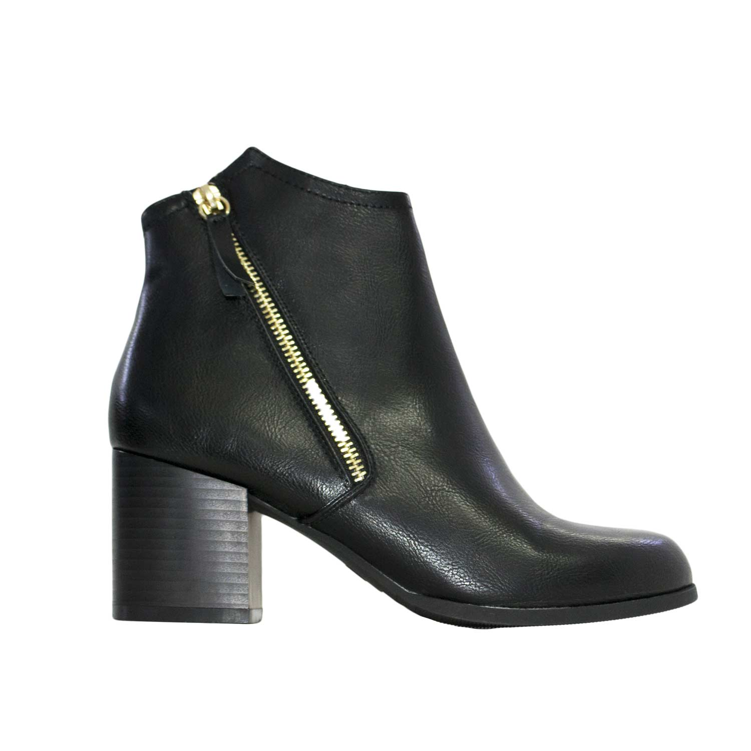 Stivaletto donna color oro zip made in italy