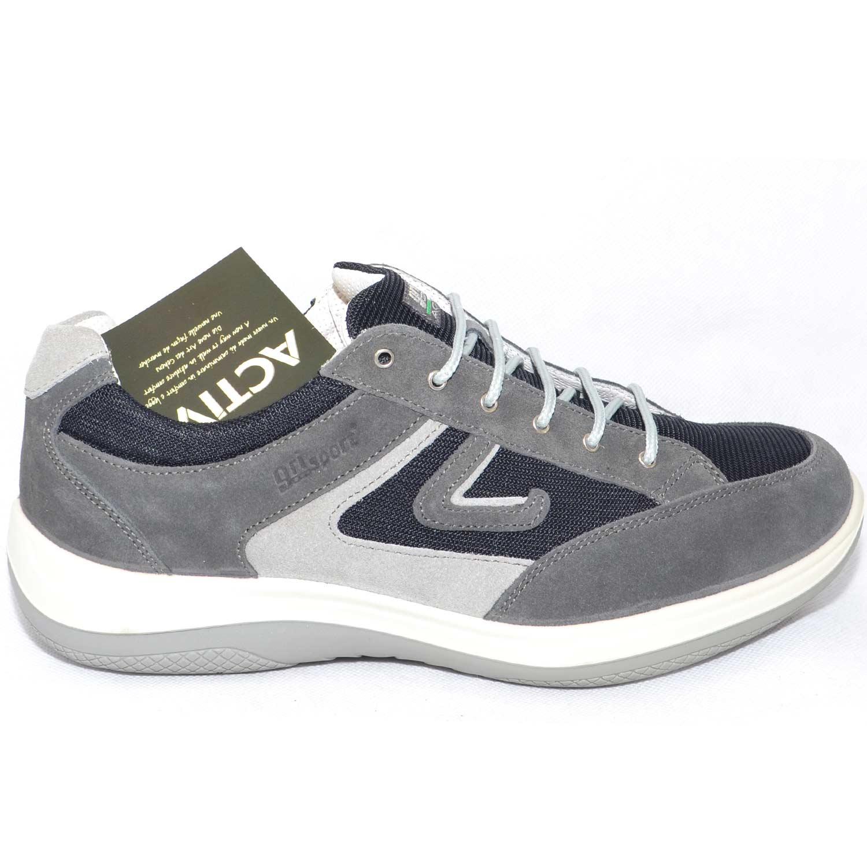 d3b1c0a6f464a Scarpe uomo light step grisport calzature shork vesuvio grigio ...