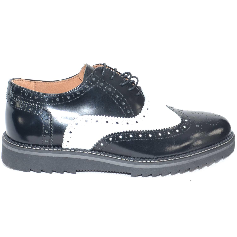 scarpe uomo stringate vera pelle abrasivato nero e bianco made in italy fondo antiscivolo artigianale cerimonia elegante uomo stringate made in italy