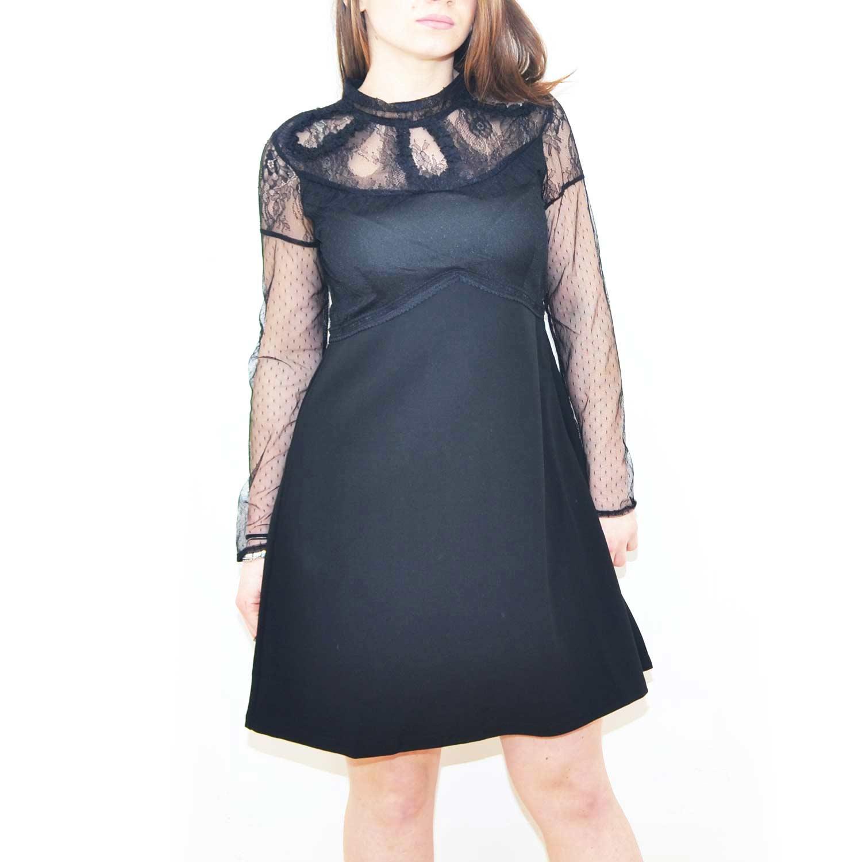 the best attitude 179ea d453e Vestito estivo new look abito nero con pizzo trasparente donna abiti made  in italy | MaluShoes