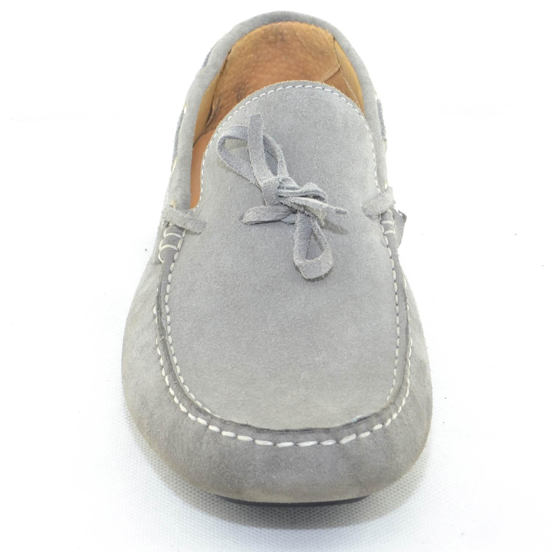 mocassino car shoes uomo grigio chiaro comfort man casual made in italy  vera pelle fondo antiscivolo 06a93834052