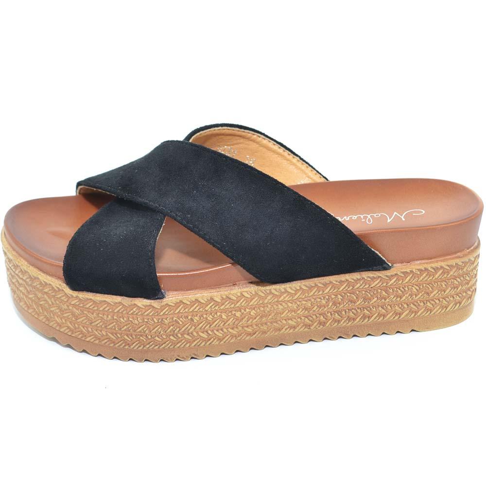 Pantofola-donna-sandalo-sabot-moda-mare-con-incrocio-alla-geisha-senza-allacciat miniatura 9