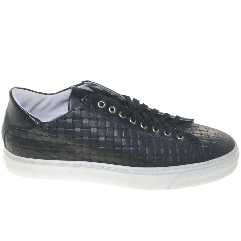 f39d5a9c08 scarpe uomo sneakers bulldog in vera pelle intrecciato fondo bianco  antiscivolo made in italy uomo sneakers bassa made in italy | MaluShoes