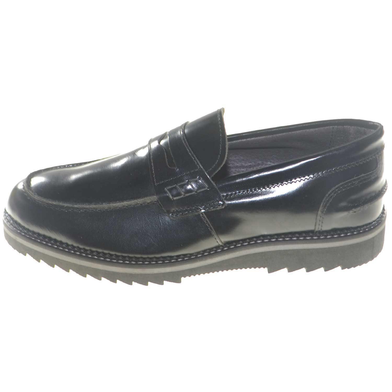 Dettagli su scarpe uomo mocassino bendina vera pelle lucido abrasivato made in italy fondo a