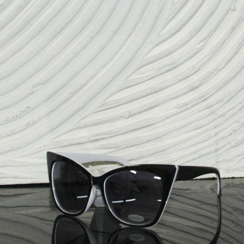 Occhiali da sole a specchio scuro design bianco donna - Occhiali da sole a specchio ...