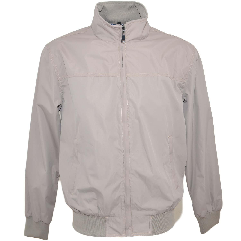 selezione migliore fcb89 a4e61 Giubbotto giacca uomo beige paravento con zip frontale impermeabile con  elastico in vita da professionista basic uomo giubbini Malu shoes |  MaluShoes