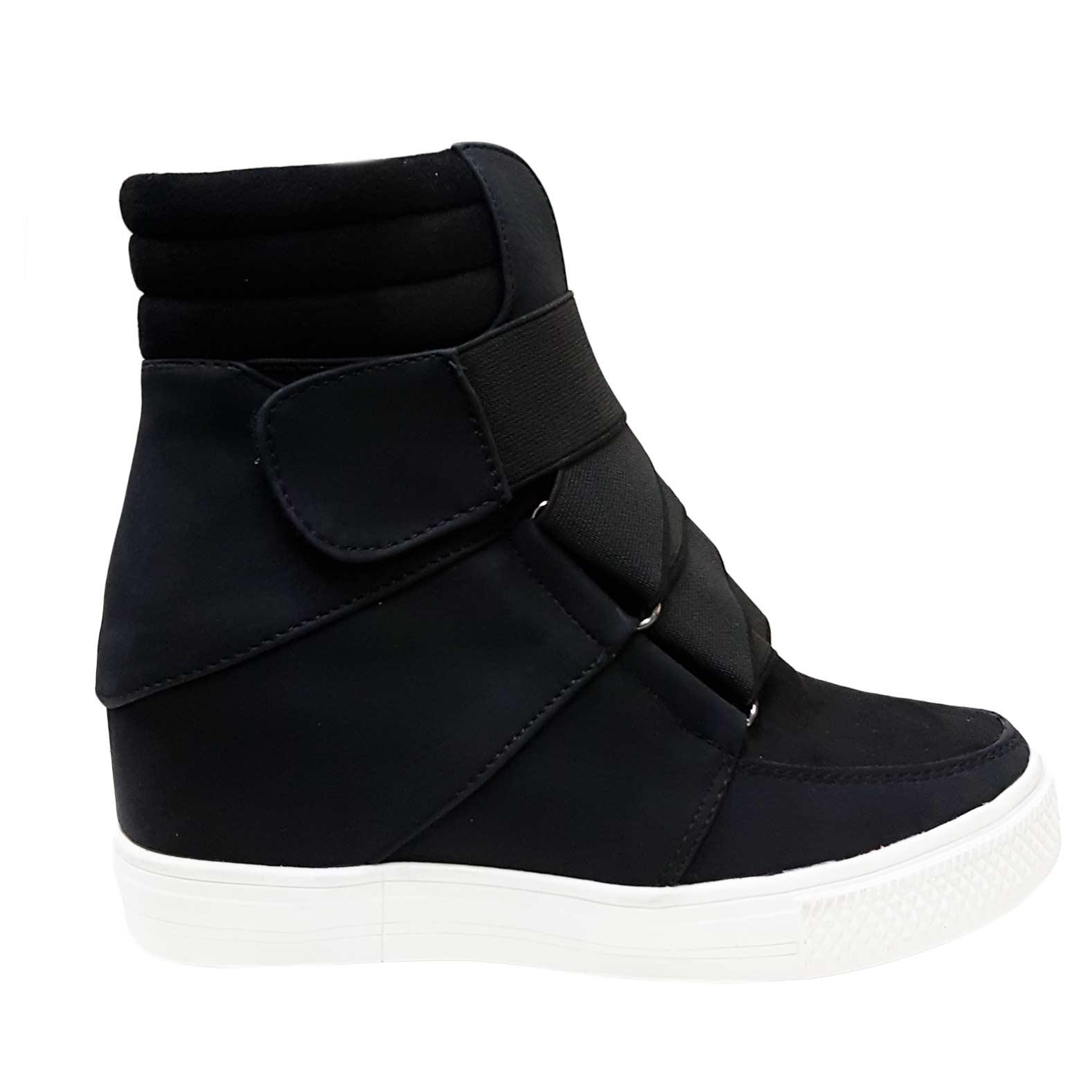 5659650f3a Sneakers alta donna art 4568 nero rialzo interno strappo moda tendenza  comfort donna sneakers alta Malu Shoes | MaluShoes