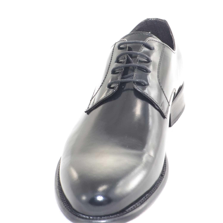 scarpe da uomo stringata cerimonia da ballo fondo vero cuoio made in italy ovalino vera pelle abrasivato lucido uomo classiche Made In Italy |