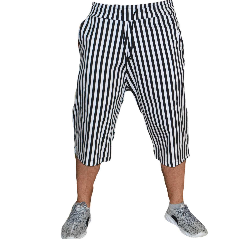 Molto Art P11056 Bermuda righe pantalone corto con coulisse tasche uomo  TQ54