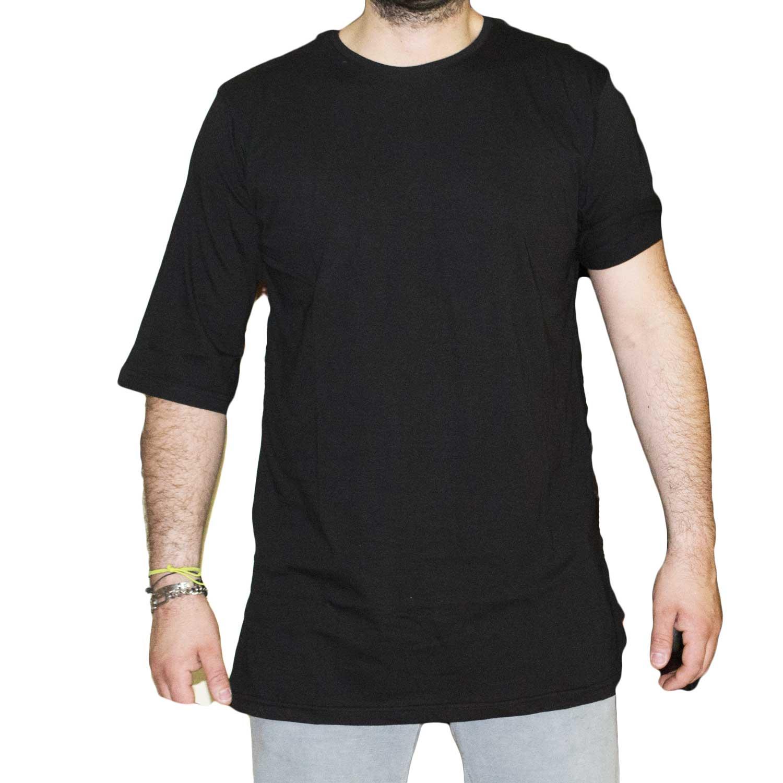 Way Trend 10330 Fluo Shirt Lunga Nero We T Art Uomo dshCBrtQx