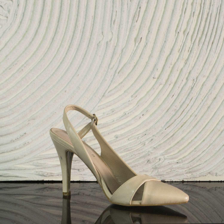 Beige Girl Cinturino Moda Decollete Scarpe Alta Alte Donna Tacco SBqnzI a7513f55316