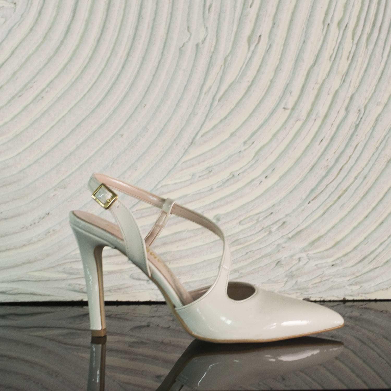 Scarpe donna girl alte decollete bianco white cinturino tacco alta moda bd4ae7f4f95
