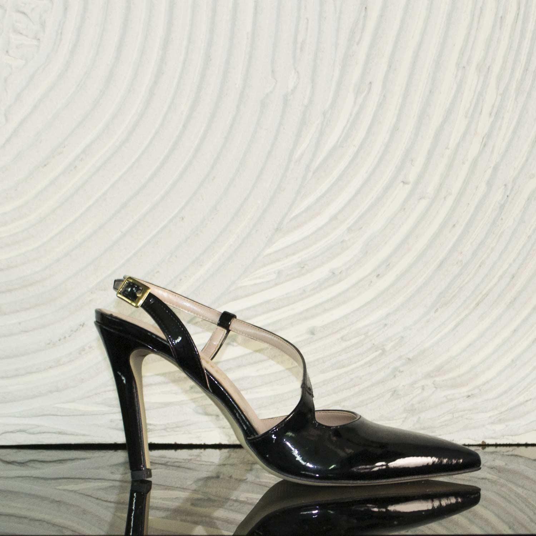 Cinturino Alta Donna Tacco Vernice Decollete Scarpe Girl Alte Nero 8YFCwx1gq
