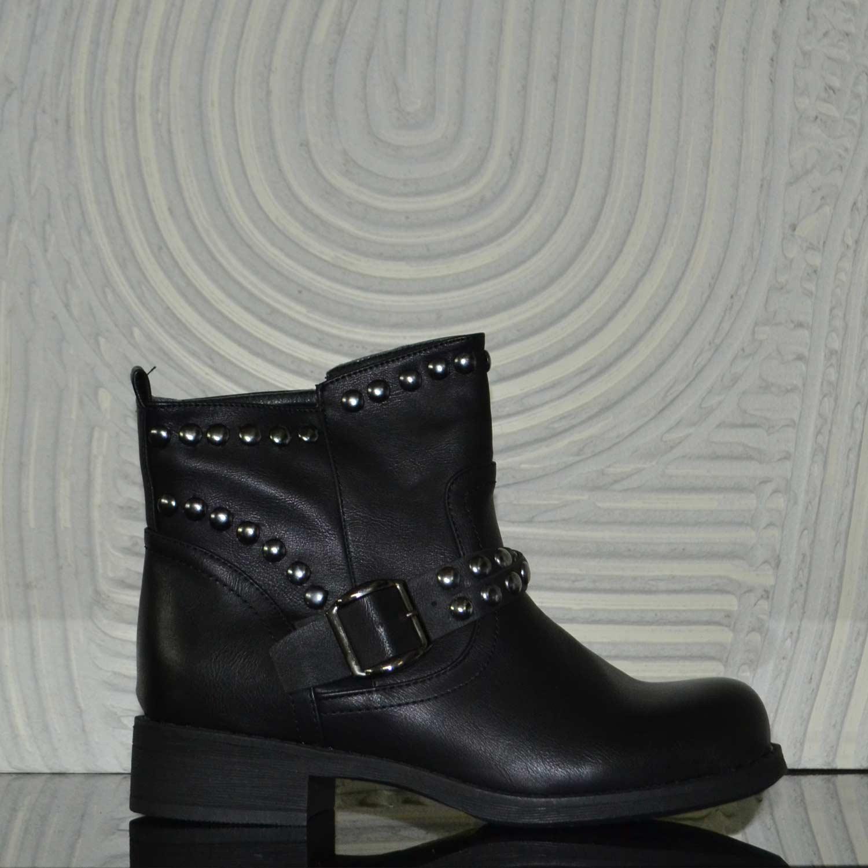 design di qualità 30b4e 6e611 Stivaletti scarpe donna nero donna borchie glamour chic donna stivaletti  Malu Shoes | MaluShoes