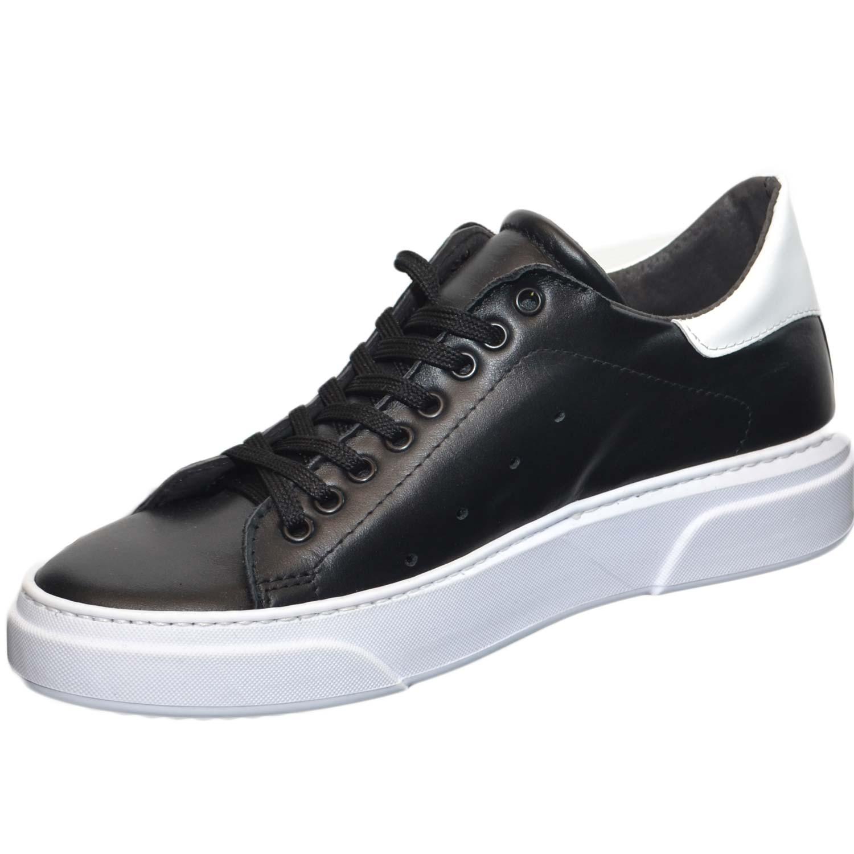 Vera Invernale Pelle Uomo Fondo Bi Nero Fortino Cruelty Bassa Bianco Sneakers In qwFISfB