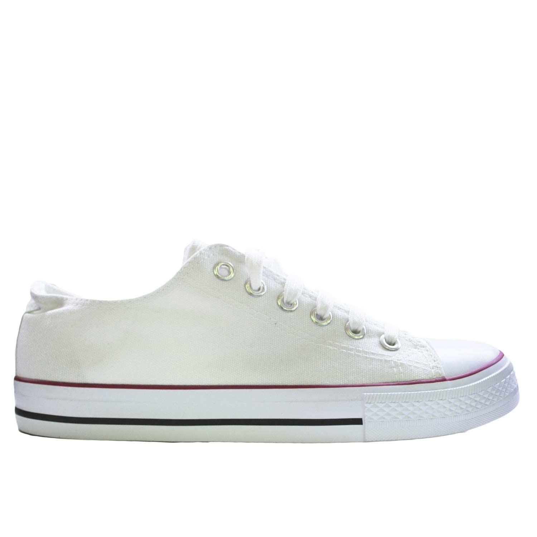 8b1be24ef0 Scarpe tela uomo basse ginnico ultraleggere comode bianco stringate lacci  punta bianca uomo sneakers bassa Malu Shoes | MaluShoes