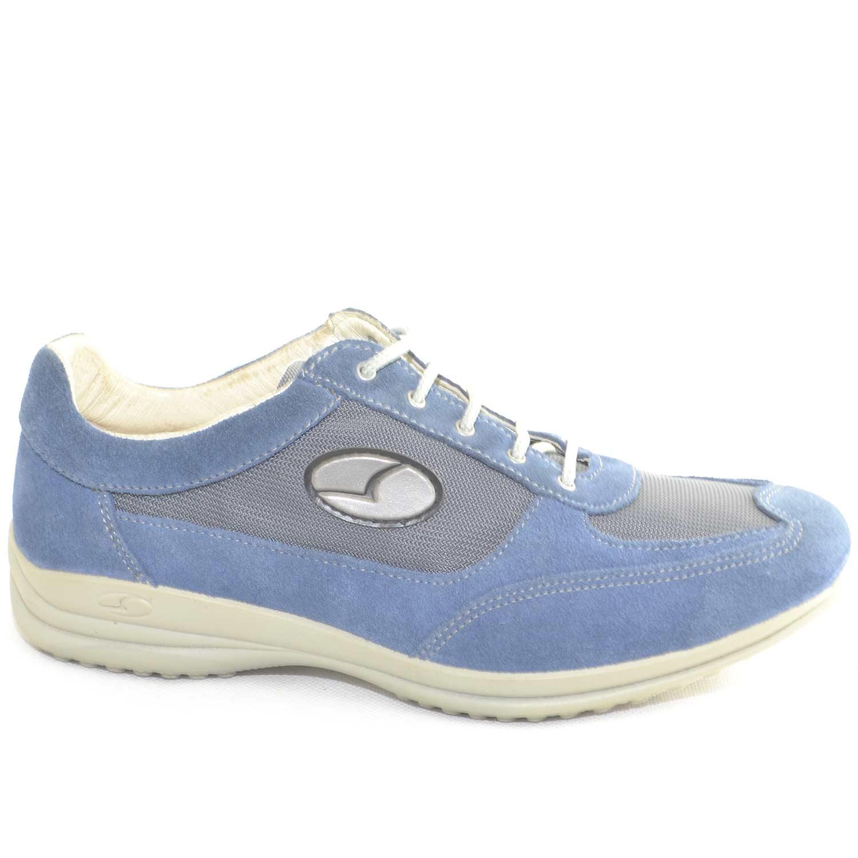 molto carino cf06b dbfe3 Sneakers Sportive Scarpe blu chiaro Uomo Light Step GRISPORT 8123 Made in  Italy Man Shoes comfort tessuto leggero e comode uomo comfort Light Step ...