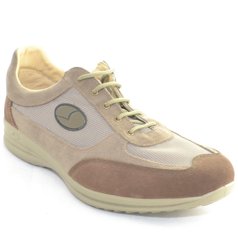 Light Step Ed E: Sneakers Sportive Scarpe Beige Uomo Light Step GRISPORT
