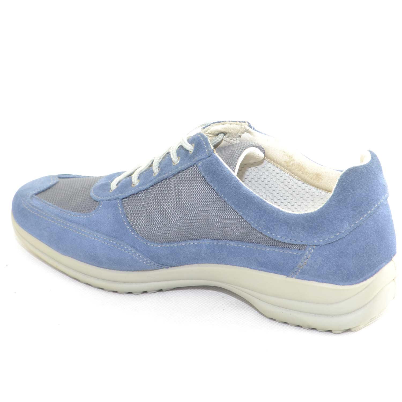 dca3149fc1e71 Sneakers Sportive Scarpe blu chiaro Uomo Light Step GRISPORT 8123 Made in  Italy Man Shoes comfort tessuto leggero e comode uomo comfort Light Step  grisport ...
