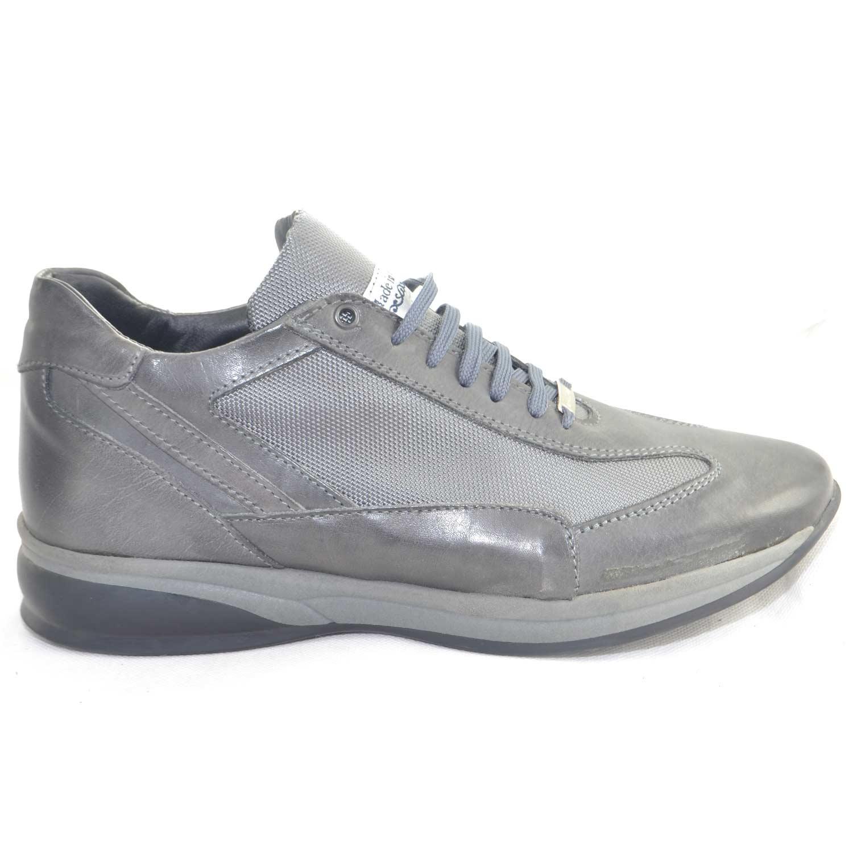 ... Malu Shoes Scarpe e Accessori. Scarpe made in italy uomo modello comodo  comfort antiscivolo tessuto grigio pelle made in italy lacci f50720247fd