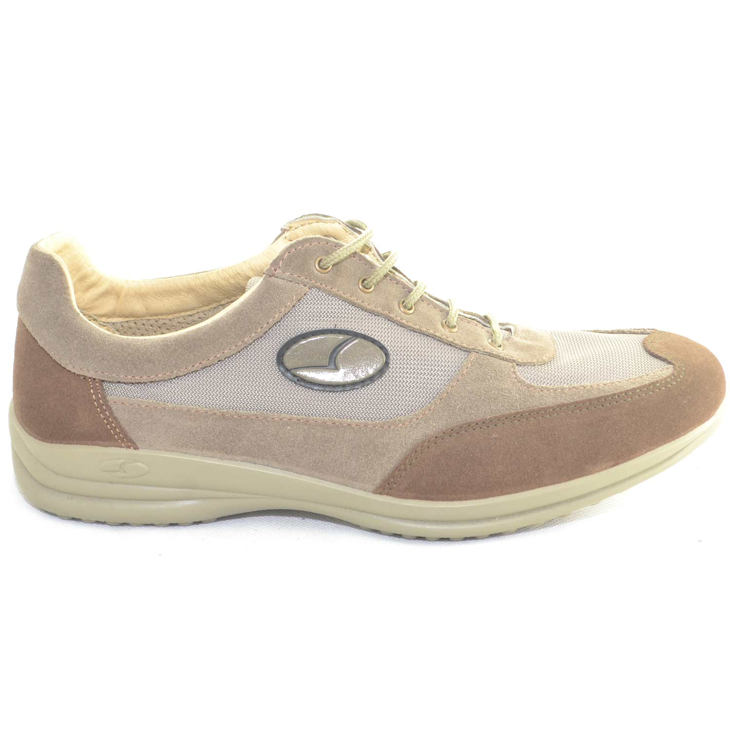 Sneakers Sportive Scarpe beige Uomo Light Step GRISPORT 8123 Made in Italy  Man Shoes comfort tessuto 696f81e6f04