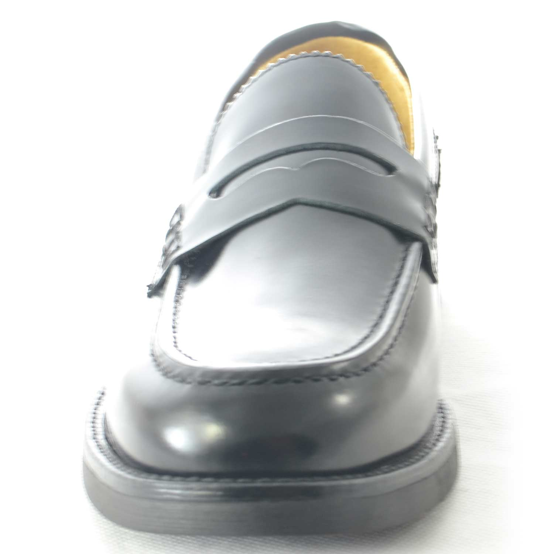 Scarpe uomo mocassini inglese college vera pelle nero con bendina made in  italy 3 3 di 8 ... e56bd821689