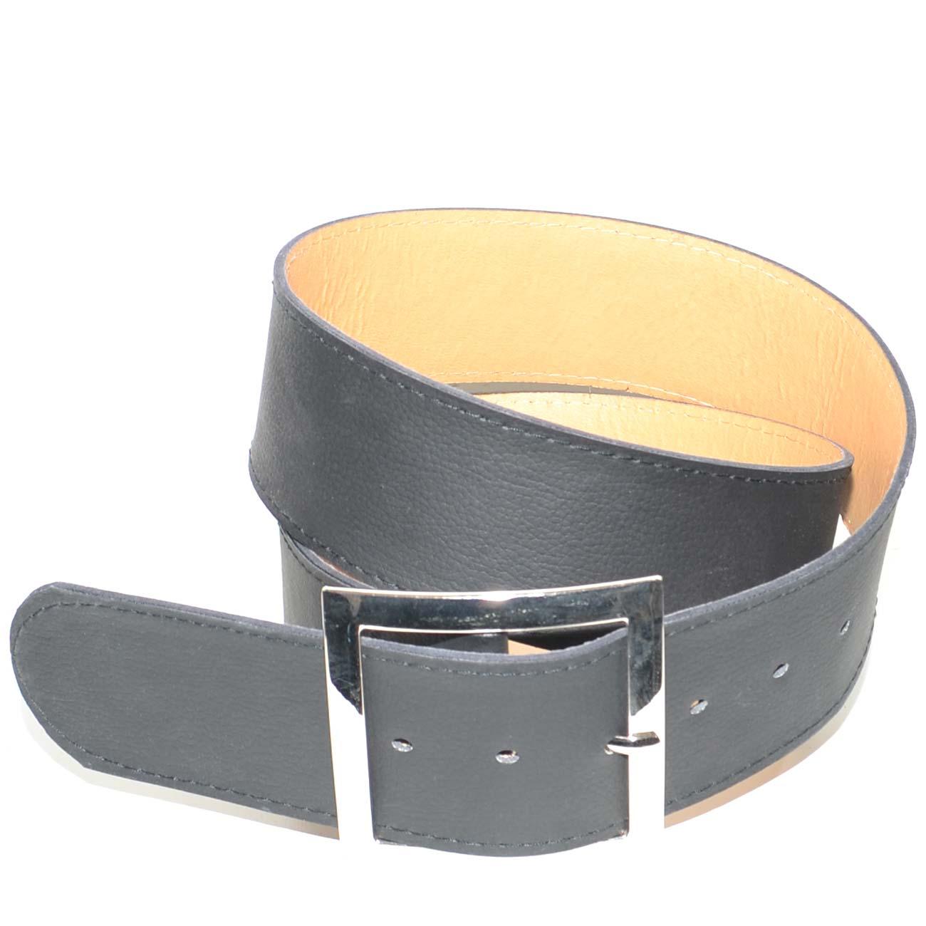 nuovo stile di vita di prim'ordine dopo Cinturone nero in ecopelle con fibbia quadrata argento da poter mettere in  vita o sui fianchi regolabile alto 6 cm donna cinture Malu shoes | ...