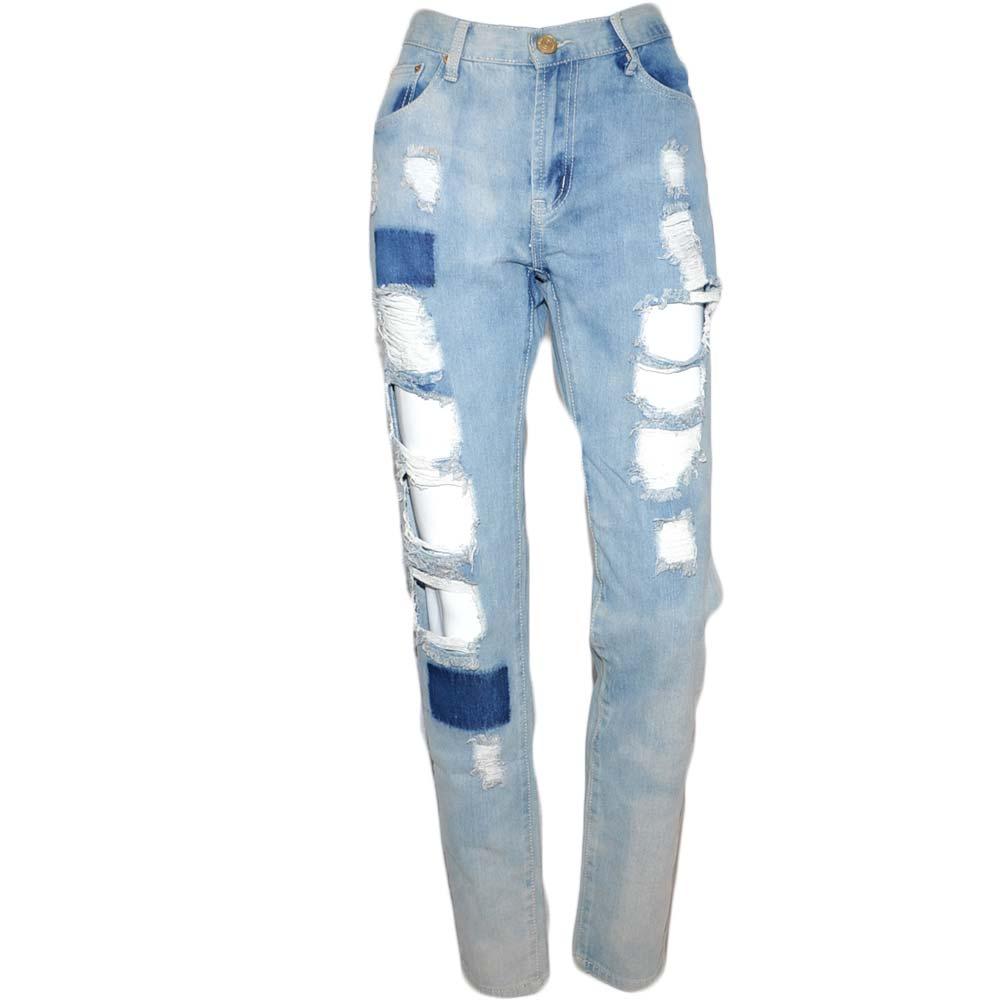 MELTIN POT Jeans donna lavaggio scuro sbiadito