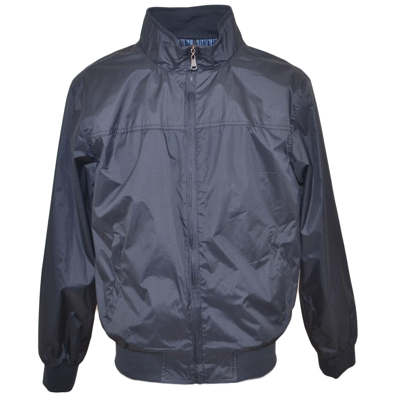 lowest price f1afa cd4e4 Giubbotto giacca uomo blu paravento con zip frontale impermeabile con  elastico in vita da professionista basic uomo giubbini Malu shoes |  MaluShoes