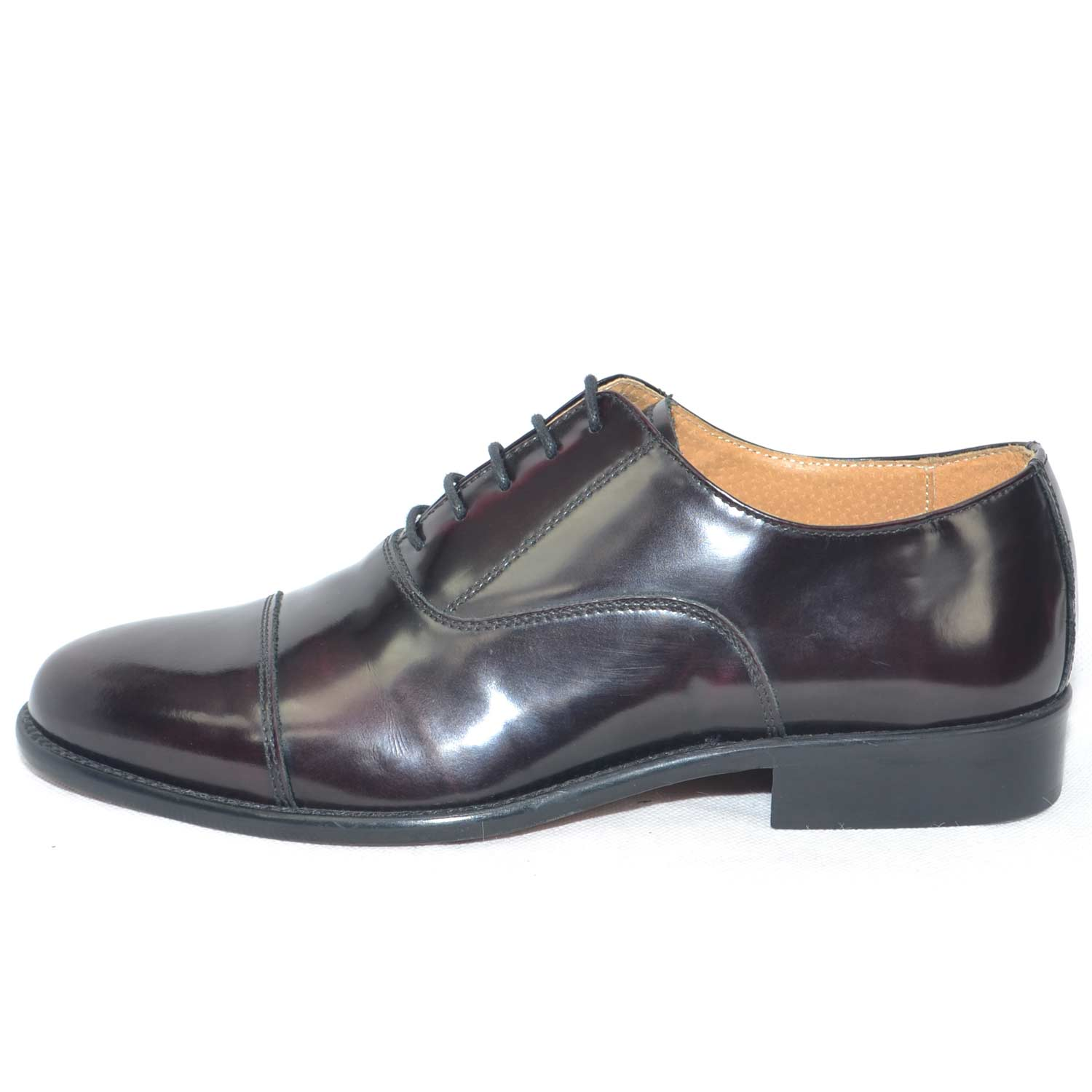 Scarpe uomo francesina inglese vera pelle lucida bordeaux made in italy fondo classico cerimonia genuine leather