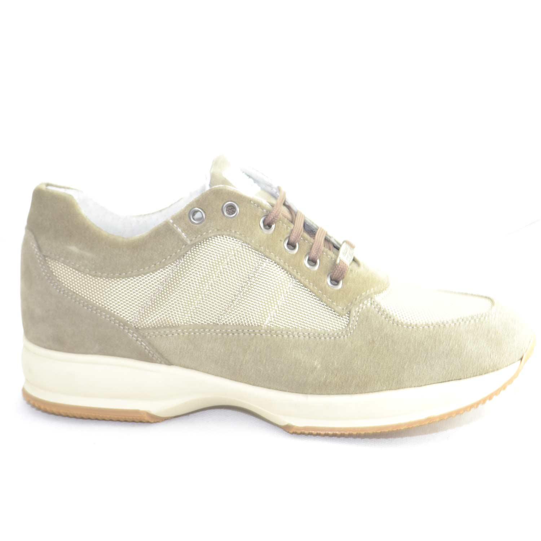 scarpe uomo made in italy colore beige vera pelle scamosciata e tessuto  traspirante fondo antiscivolo comfort 373730c8f47