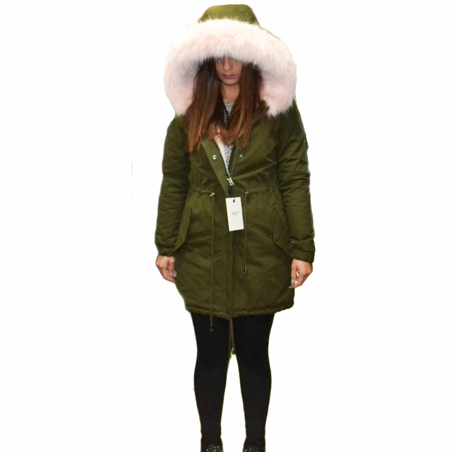New Parka lungo  con pelliccia colorata voluminosa glamour .