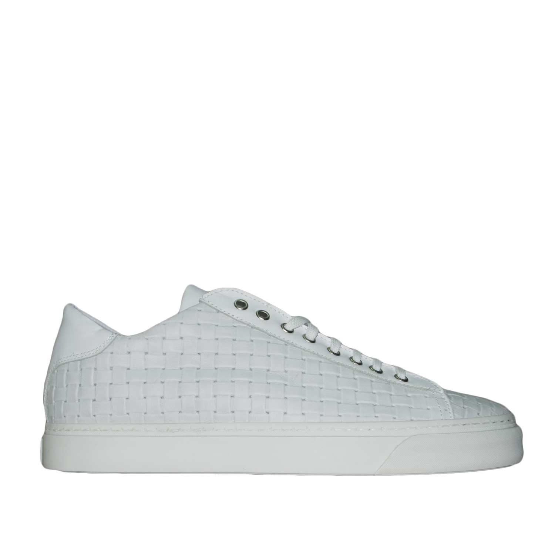 Intrecciata Sneakers Uomo Scarpe Monocromo Bianco Fondo Ybf76vgy
