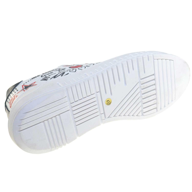 Uomo Bianco Astratte Bassa Scarpe E Bicolore Sneaker Con Scritte tsrdhQCxB