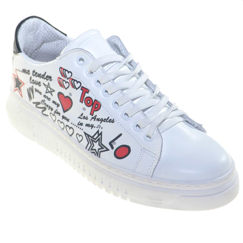 Bassa Sneaker Scritte Bianco Bicolore Astratte E Scarpe Uomo Con pUqGSzMV