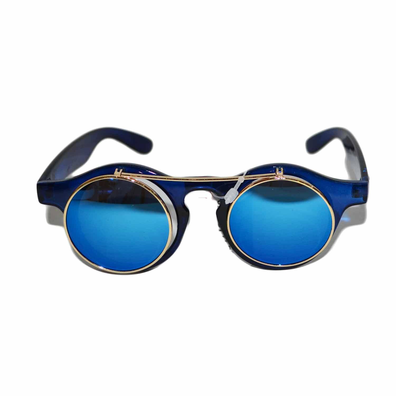 Occhiali da sole uomo donna moda vintage rotondi steampunk for Pubblicita occhiali da sole