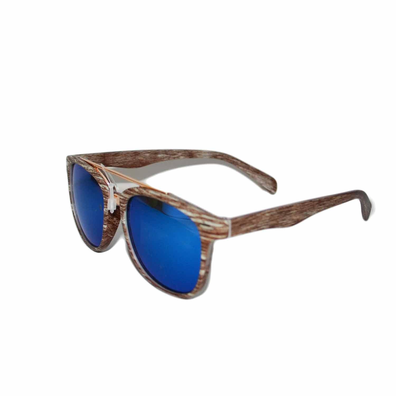Occhiali da sole uomo effetto sfumato moda legno vintage for Occhiali da sole montatura in legno