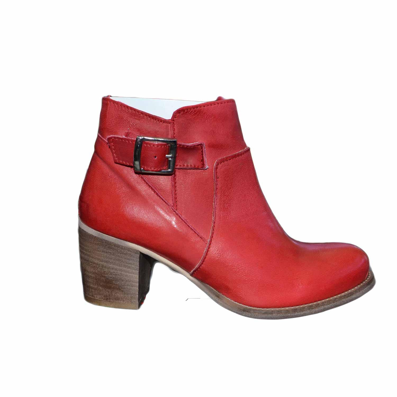 cerca l'autorizzazione ultima collezione amazon scarpe donna tronchetto rosso made in italy con fibbia e zip latareale vera  pelle genuine leather tacco 70 comfort donna tronchetti made in italy | ...