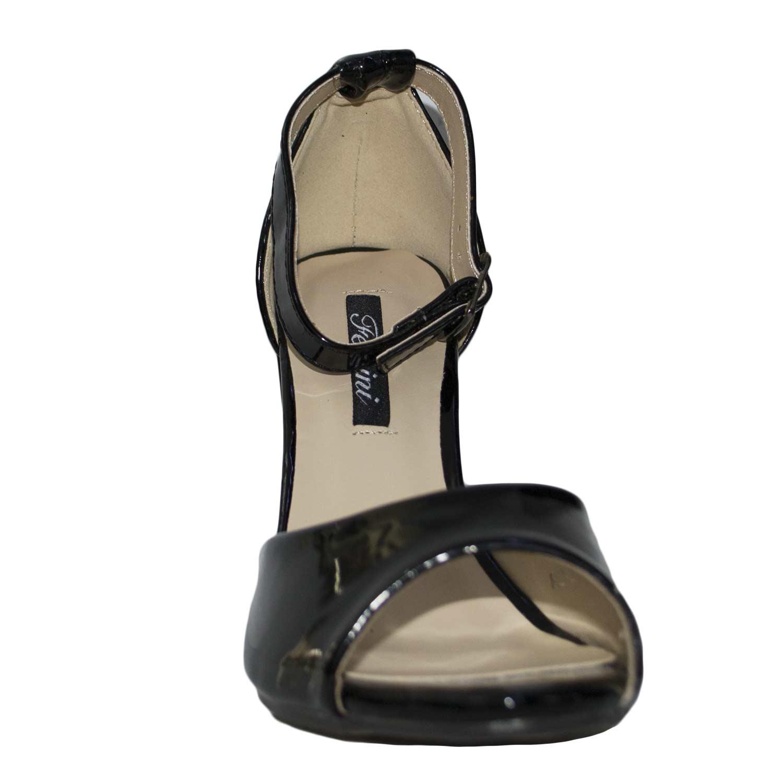 Sandalo fersini art 00945 comfort tacco doppio laminato - Vernice a specchio ...
