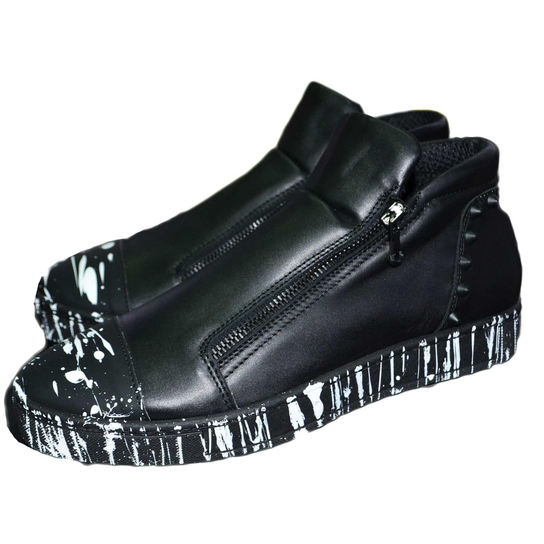 scarpe uomo calzature zip dettaglio nero con Sneakers bassa modello fwqy7aw4R