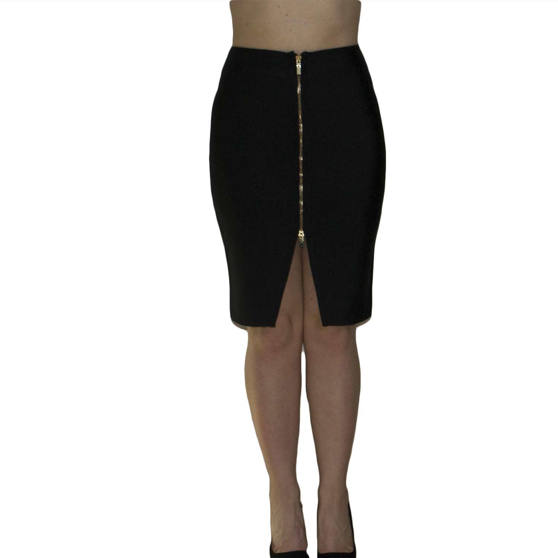 buy online f72ca ab0e2 Gonna bandage art CIP 00434 cerniera nero spacco elastica slim fit aderente  snellente donna gonne MANOSQUE | MaluShoes