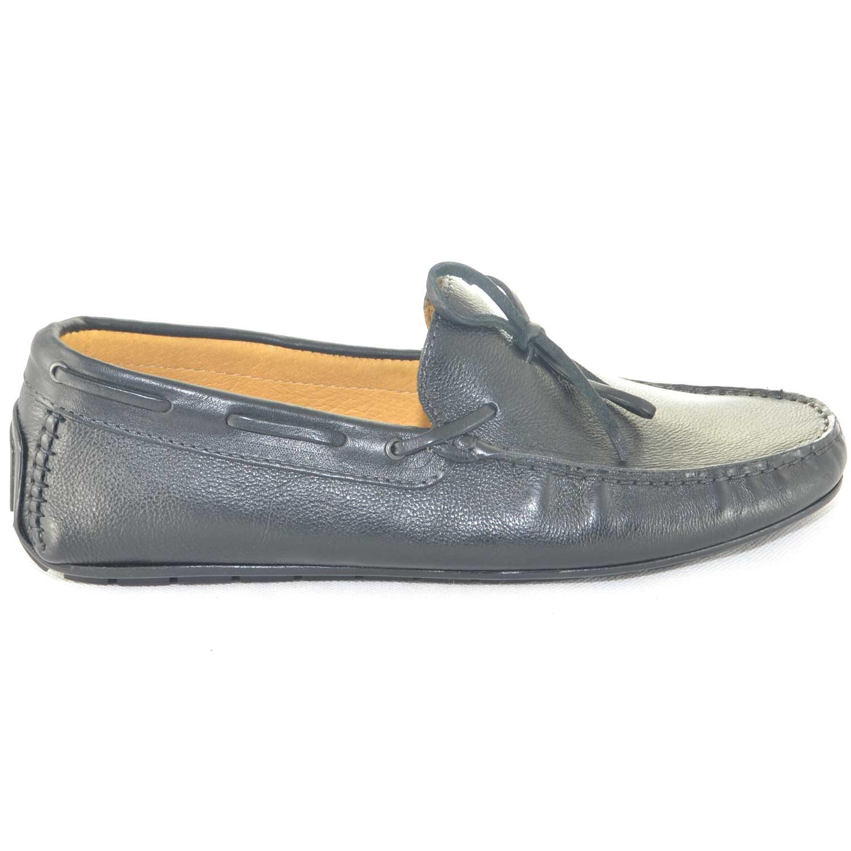 Car Uomo Mocassino Scarpe Shoes Modello Nero Slip Da Interland Barca 06qqdw5