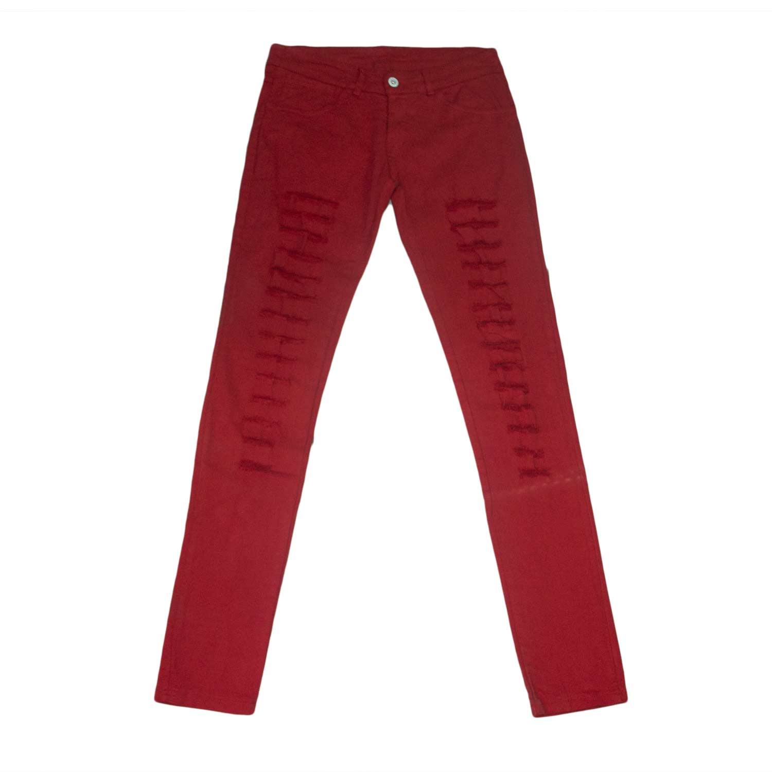 Pantalone stracciato donna girl rosso red chic glamour made in italy.