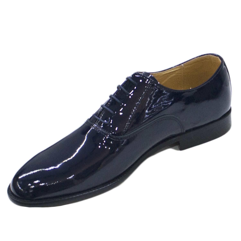 Scarpe Matrimonio Uomo Blu : Scarpe classiche uomo blu lucido francesina vera pelle
