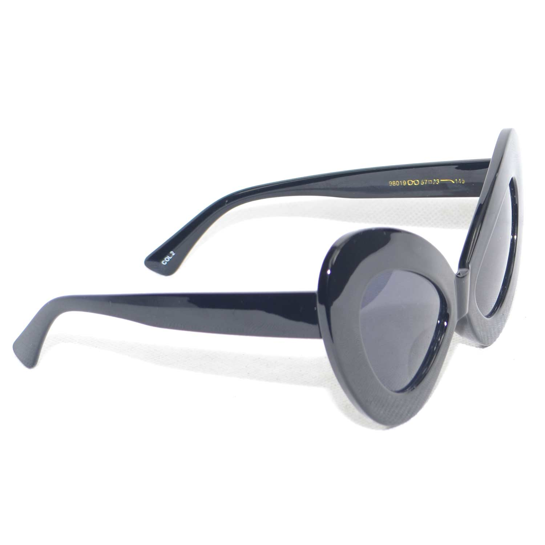 ea61f780b0a Sunglasses occhiali neri da sole donna grandi modello ferragni anni ...