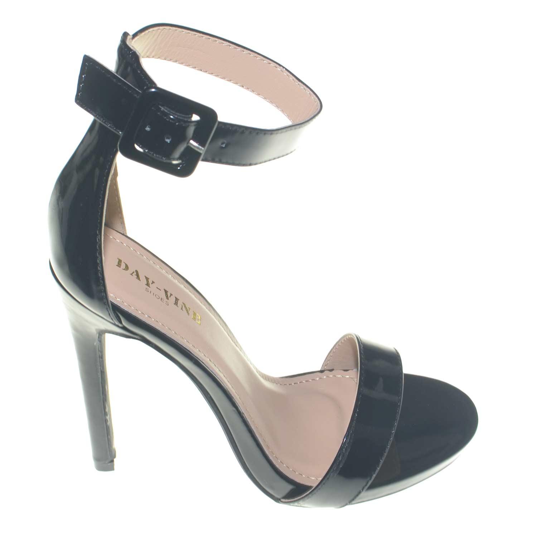 Sandalo donna tacco 60 cinturino alla cavliglia Made in Italy
