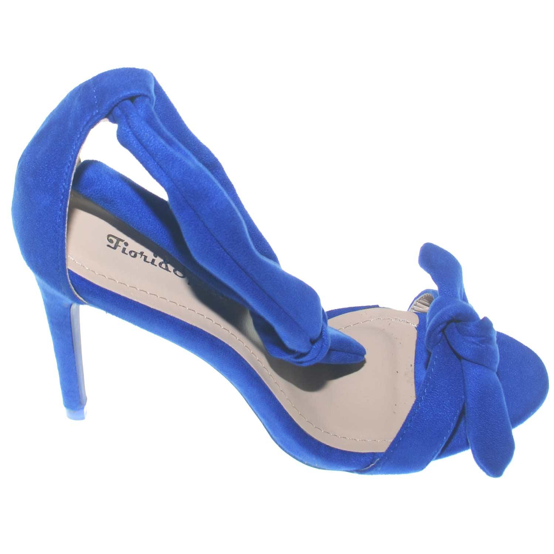 Trendy Sandali Scarpe da Donna Tacco Alto v3612 dcollet blu 38